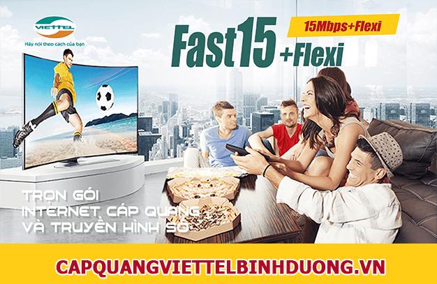 Viettel Bình Dương, truyền hình số viettel Combo Fast 15Flexi