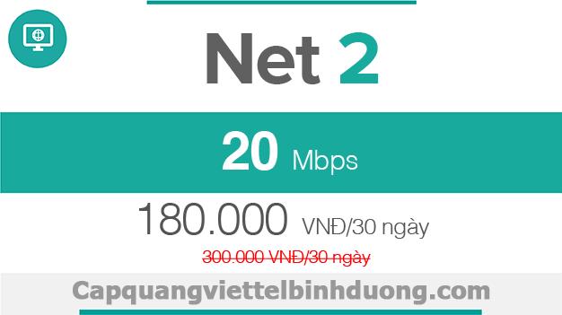 Viettel Bình Dương, Gói 20Mbps, Fast20