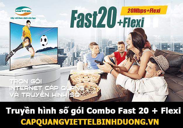 Viettel Bình Dương, Truyền hình số gói Combo Fast 20 + Flexi