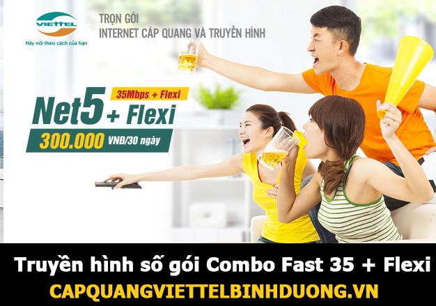 Viettel Bình Dương | Truyền hình số gói Combo Fast 35 + Flexi